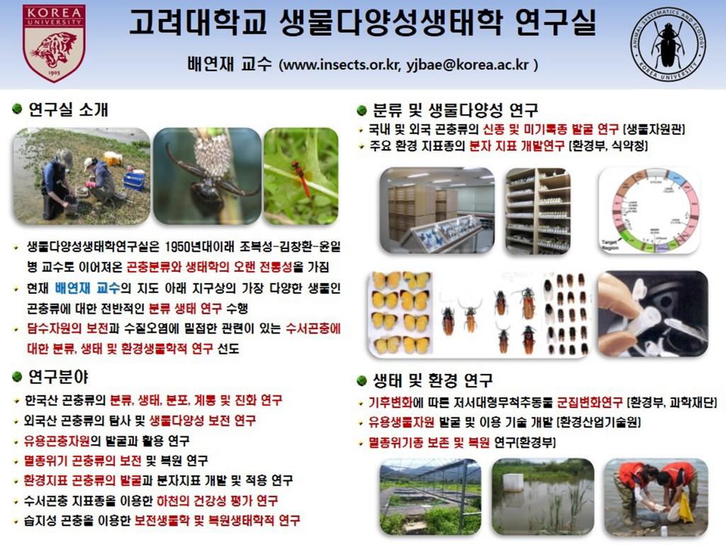 생물다양성생태학연구실(배연재교수)소개-1